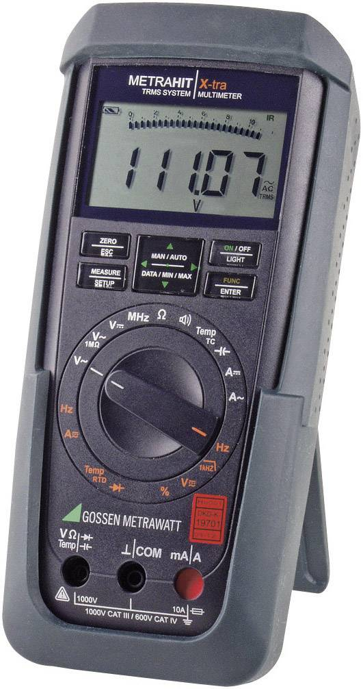Digitálne/y ručný multimeter Gossen Metrawatt METRAHIT X-TRA M240A, kalibrácia podľa DAkkS