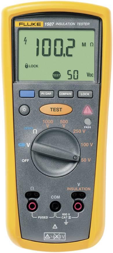 Tester izolací Fluke 1507, 50 / 100 / 250 / 500 / 1 000 V, 0,01 MΩ - 10 GΩ, kalibrace dle ISO