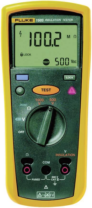 Tester izolací Fluke 1503, 500 / 1000 V, 0,1 MΩ až 2 GΩ, Kalibrováno dle ISO