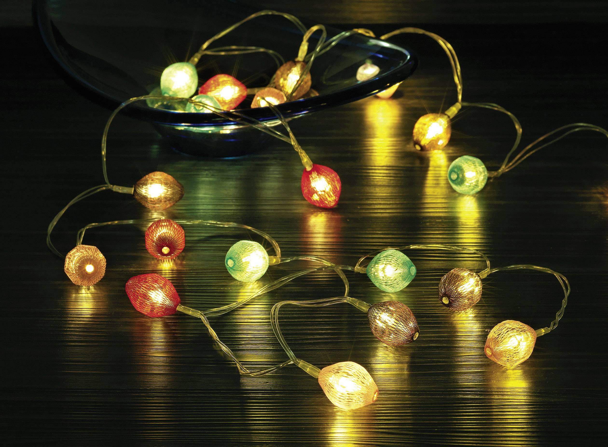 Světelný LED řetěz s motivem diamantu Polarlite LBA-20-005, 20 LED, 2,2 m