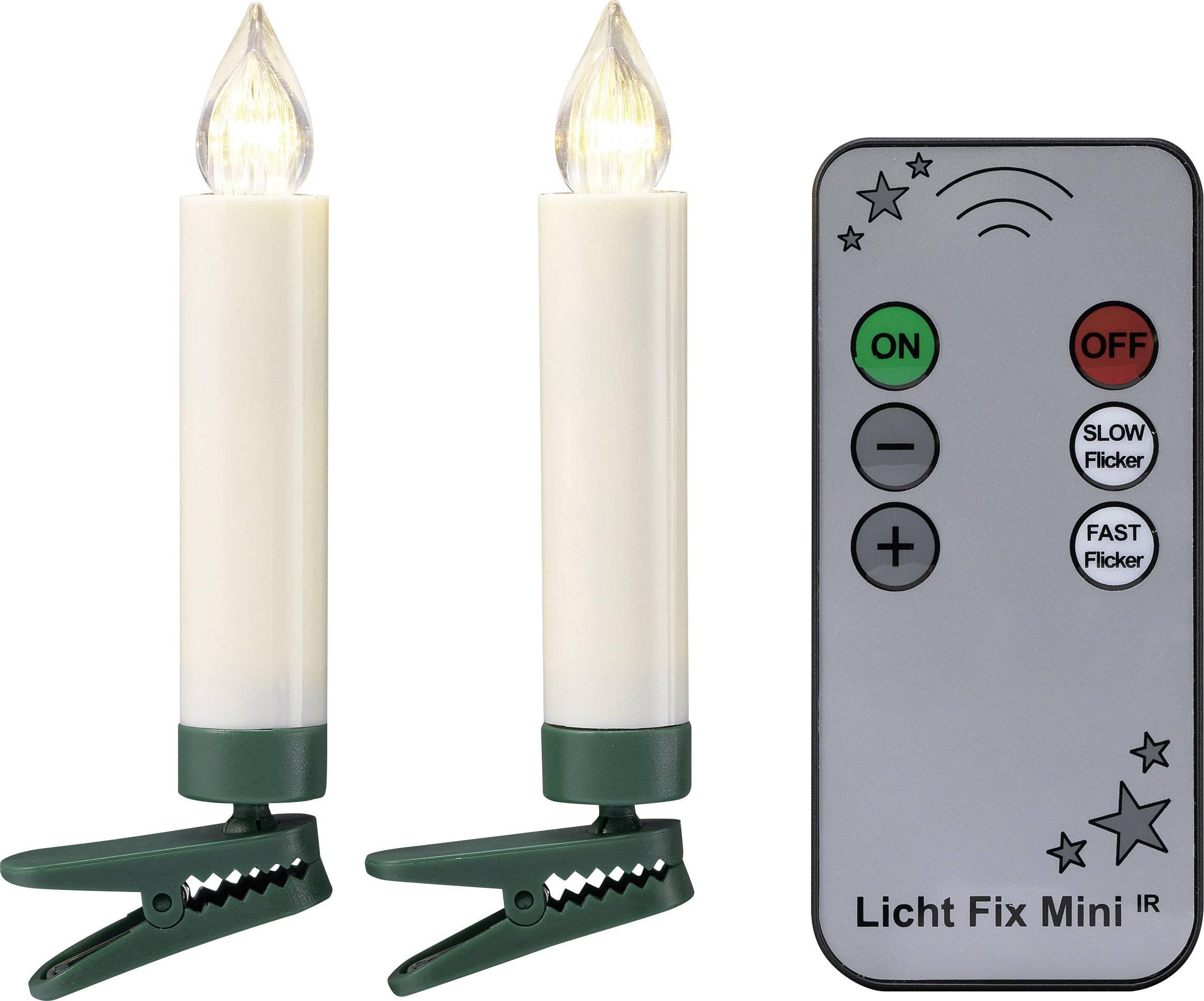 Bezdrôtové vianočné LED sviečky Polarlite LBA-30-003, 10 LED, teplá biela
