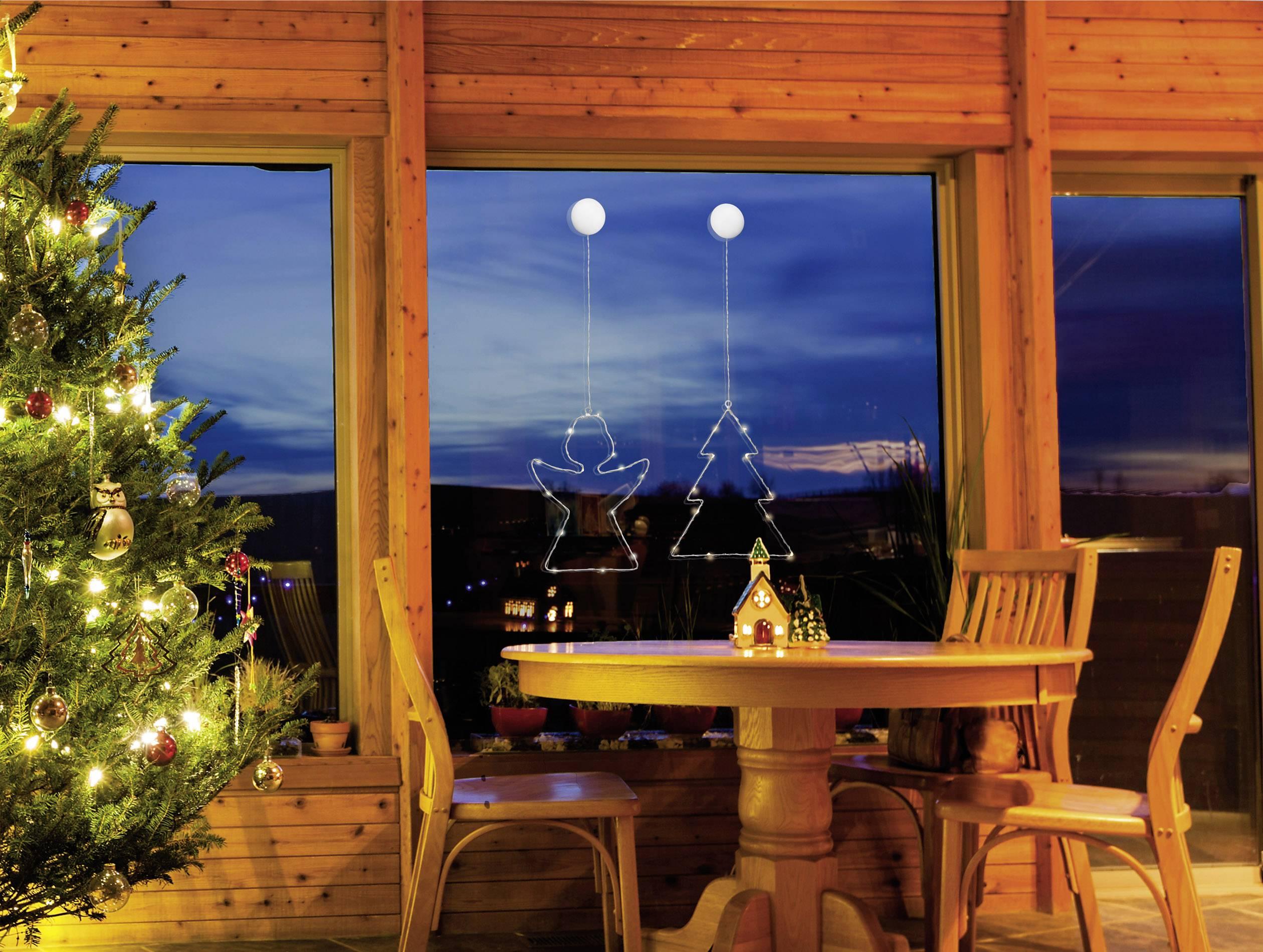 LED osvetlenie do okna Polarlite LBA-50-014, na batérie, anjel