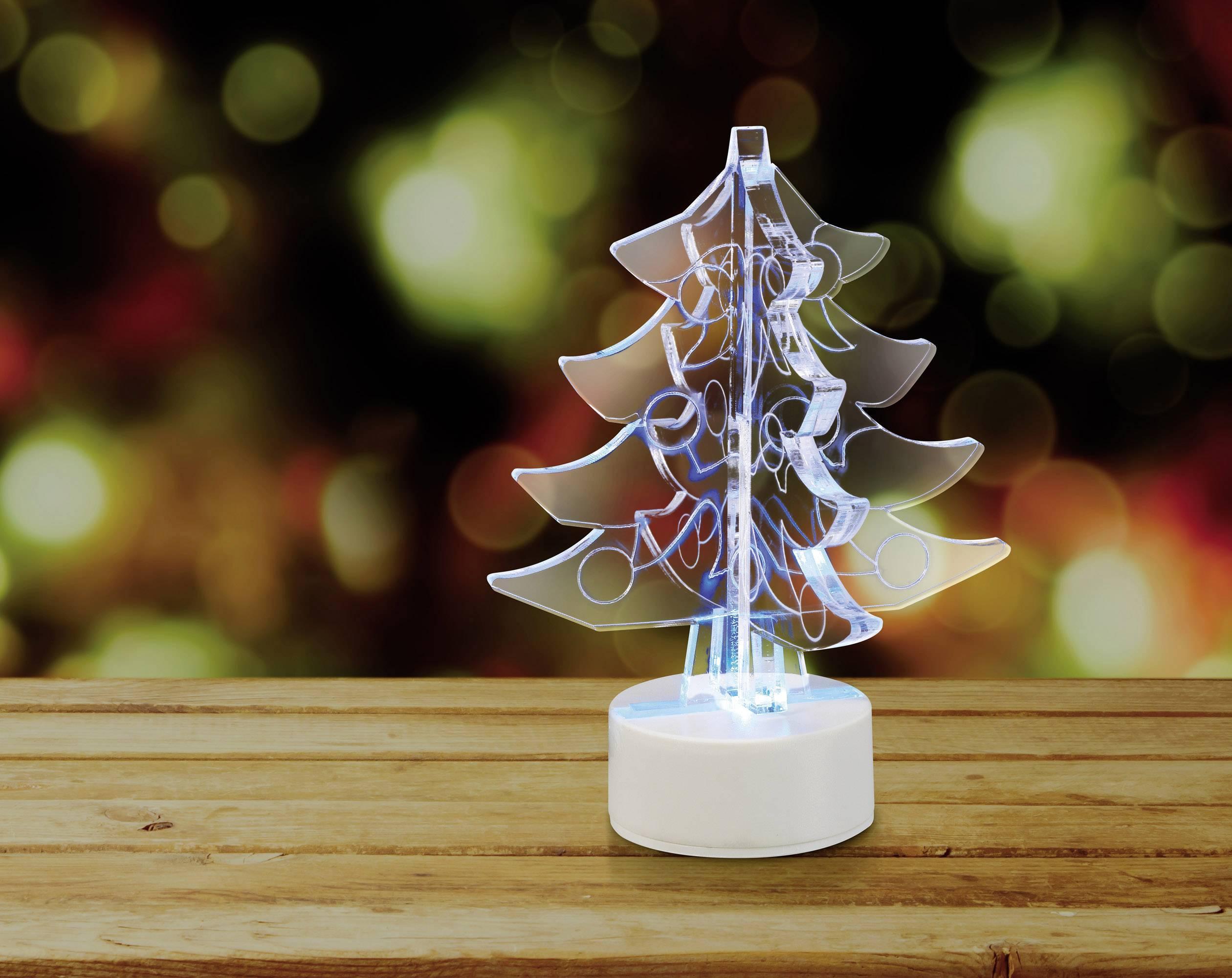 Stolný LED vianočný stromček Polarlite LBA-51-011, na batérie