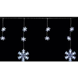 Venkovní světelný řetěz sněhová vločka, Polarlite PDC-03-002, 70 LED, 9 m, do sítě