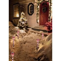Vánoční solární světlo na zahradu Polarlite PSL-02-001, 1 LED, červená/bílá