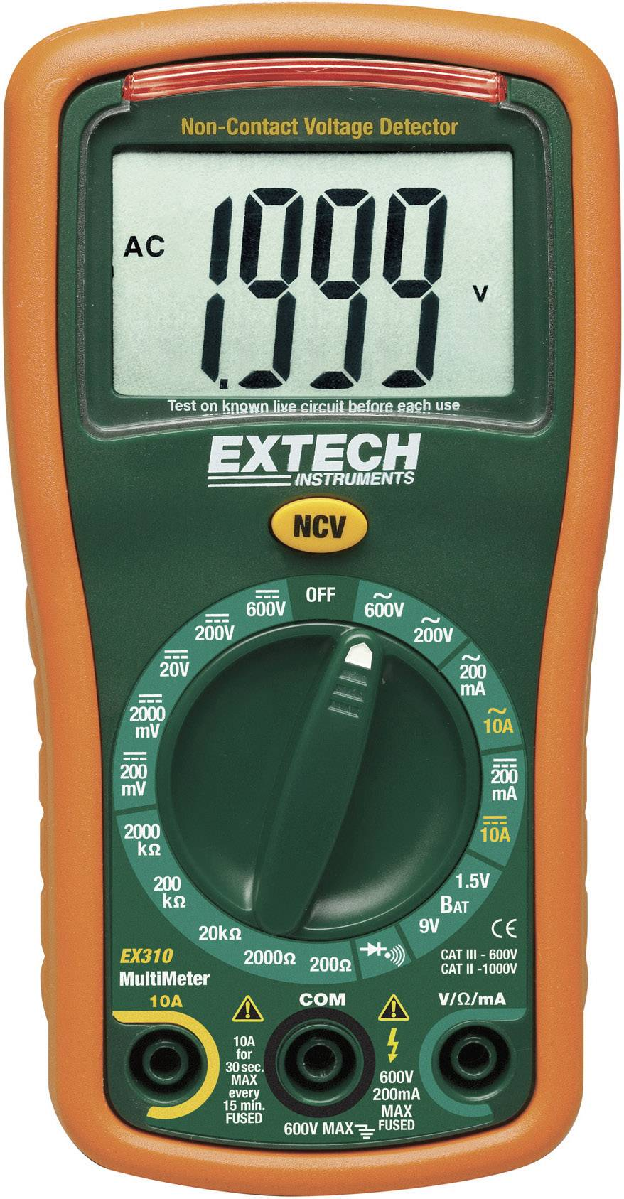 Digitální multimetr Extech EX310, 0 Ω - 2000 KΩ