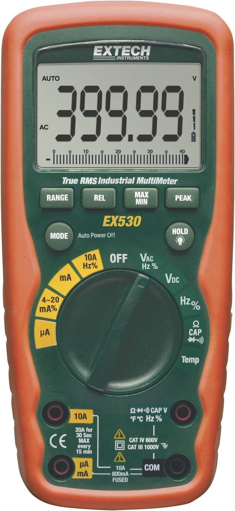 Digitálne/y ručný multimeter Extech EX530 EX530, vodotesné (IP67)