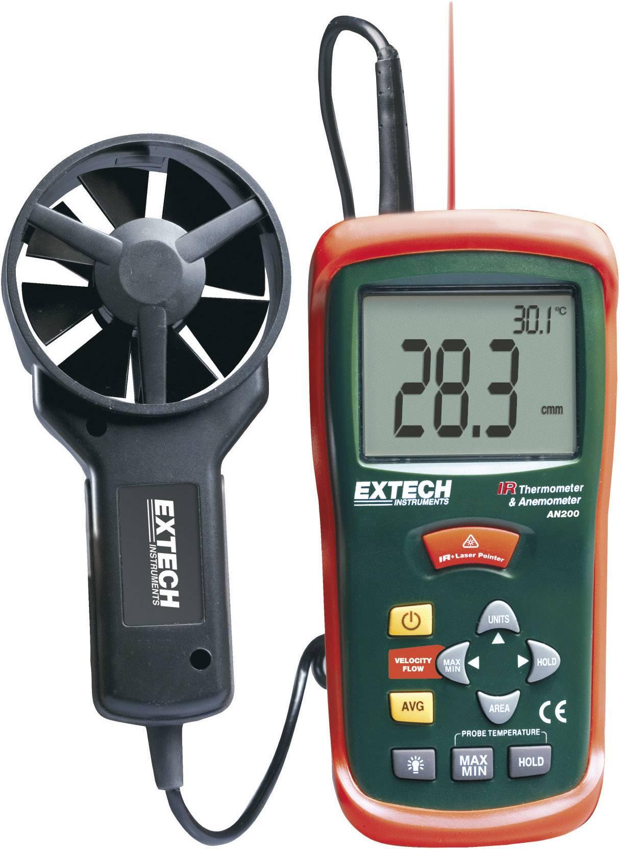 Prístroj na meranie teploty a prúdenia vzduchu Extech AN-200