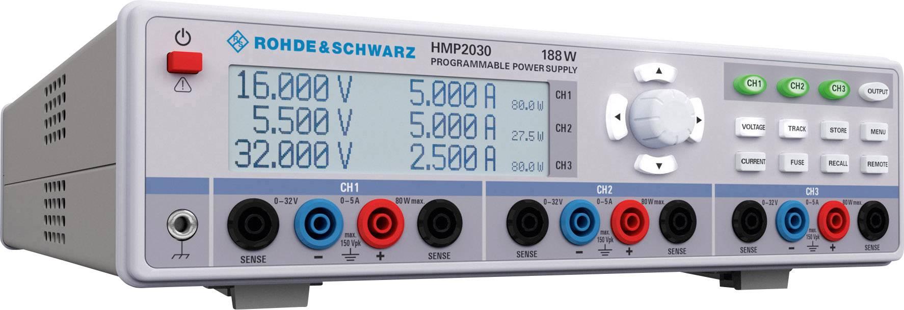 Laboratórny sieťový zdroj Hameg HMP2030, 0 - 32 V/DC, 0 - 5 A
