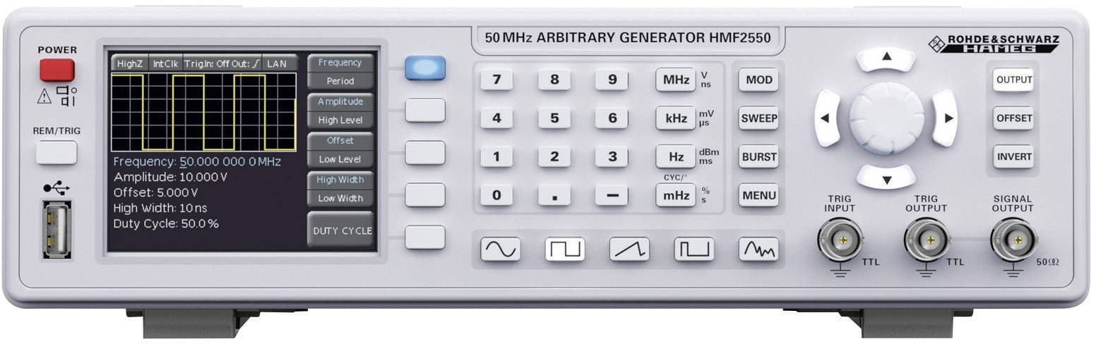 Generátor funkcií Hameg Instruments HMF2550
