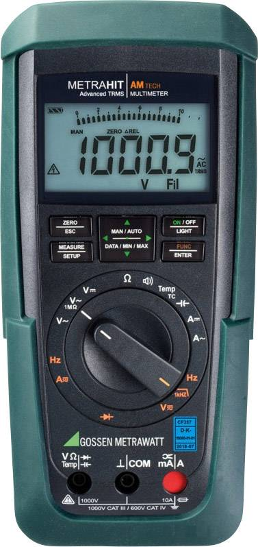 Multimetr digitální Gossen Metrawatt METRAHIT AM TECH M243A Kalibrováno dle DAkkS