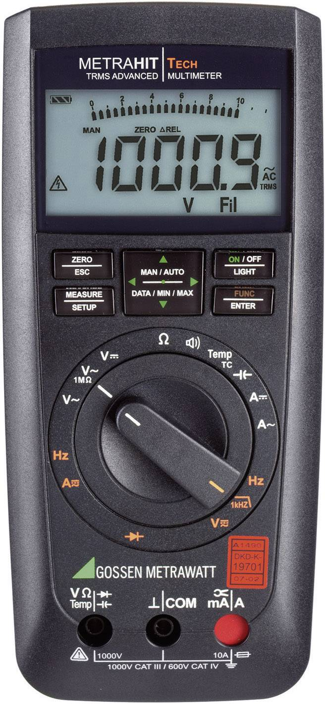 Digitálne/y ručný multimeter Gossen Metrawatt METRAHIT TECH M243A, kalibrácia podľa DAkkS