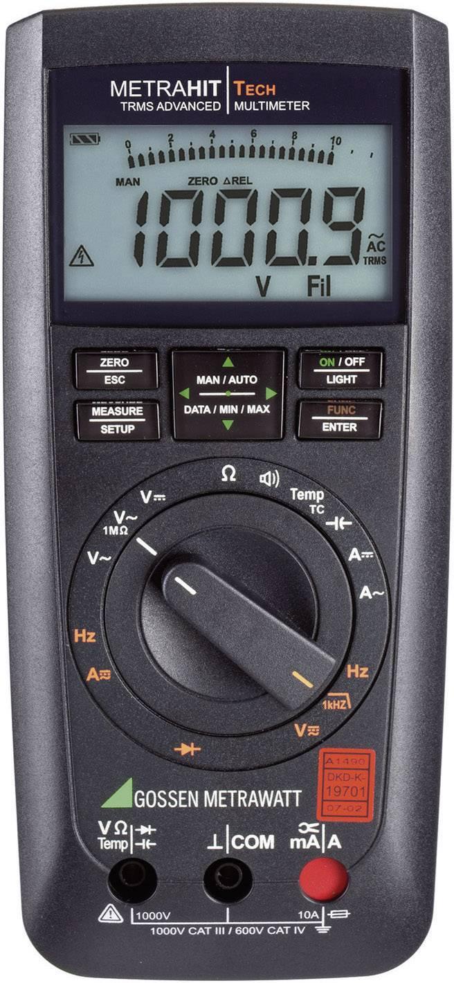 Multimetr digitální Gossen Metrawatt METRAHIT TECH M243A Kalibrováno dle DAkkS