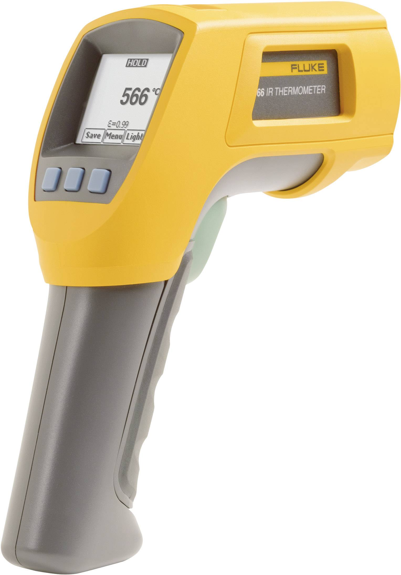 IR teplomer Fluke 566, IR: -40až +650 °C, K-Typ: -40 až +1372 °C