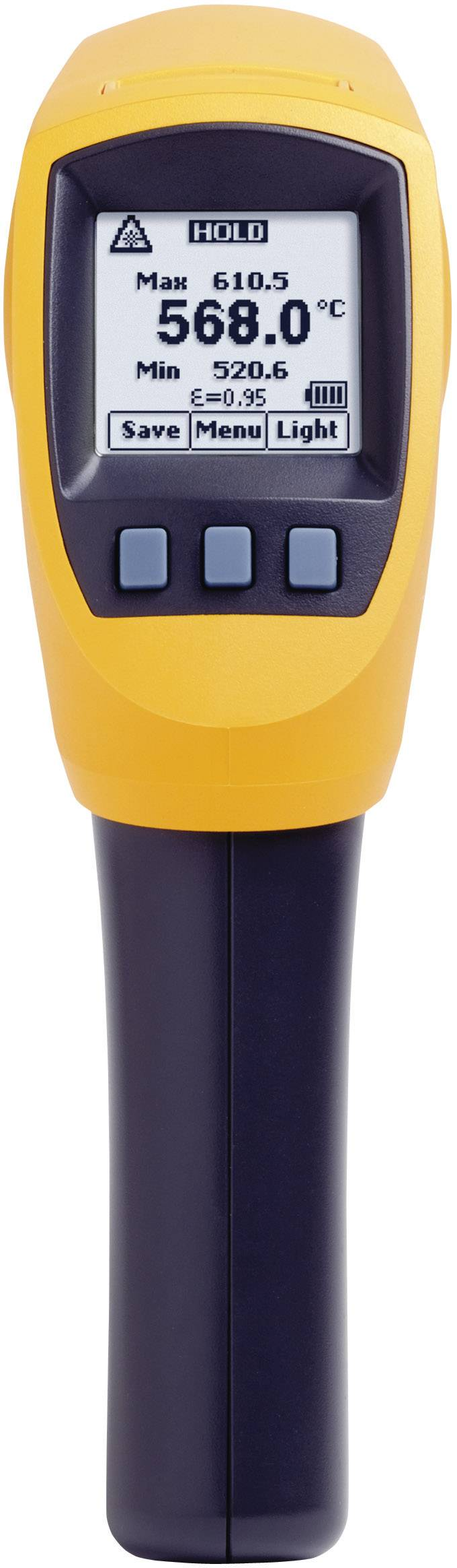 IR teplomer Fluke 568, IR: -40 až +800 °C, K-Typ: -40 až +1372 °C