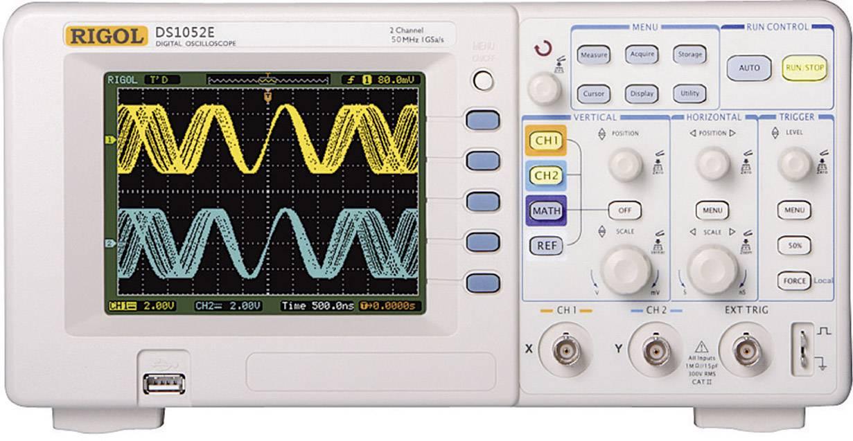Digitálny osciloskop Rigol DS1052E, 50 MHz, 2-kanálový