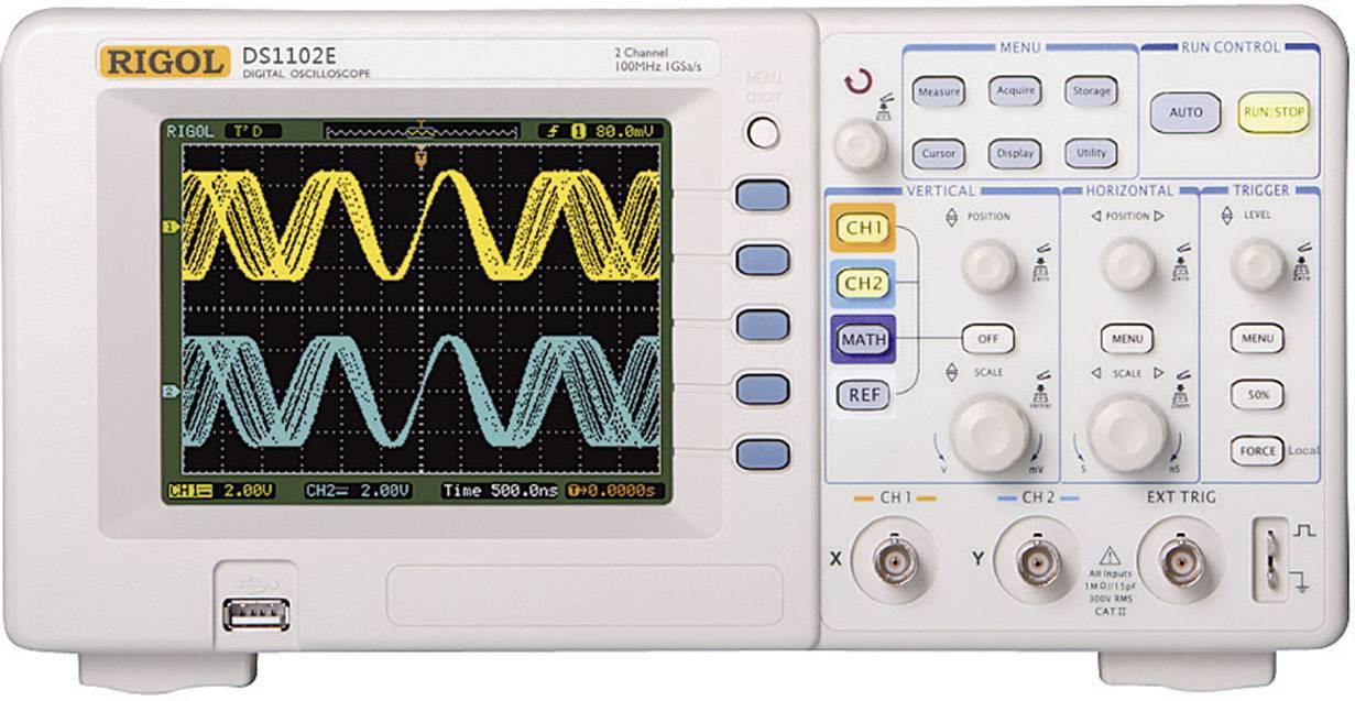 Digitální osciloskop Rigol DS1102E, 100 MHz, 2kanálová