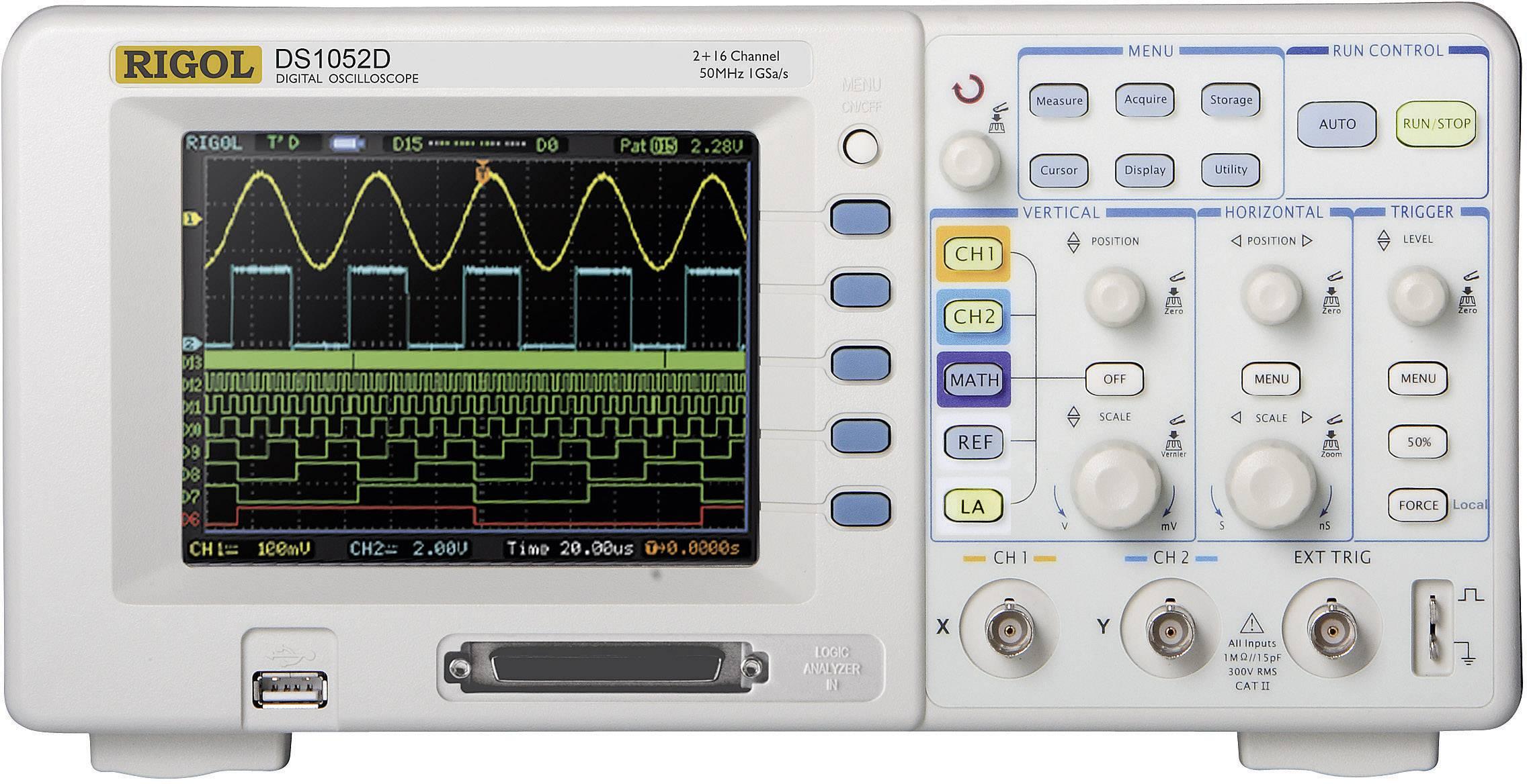 Digitálny osciloskop Rigol DS1052D, 50 MHz