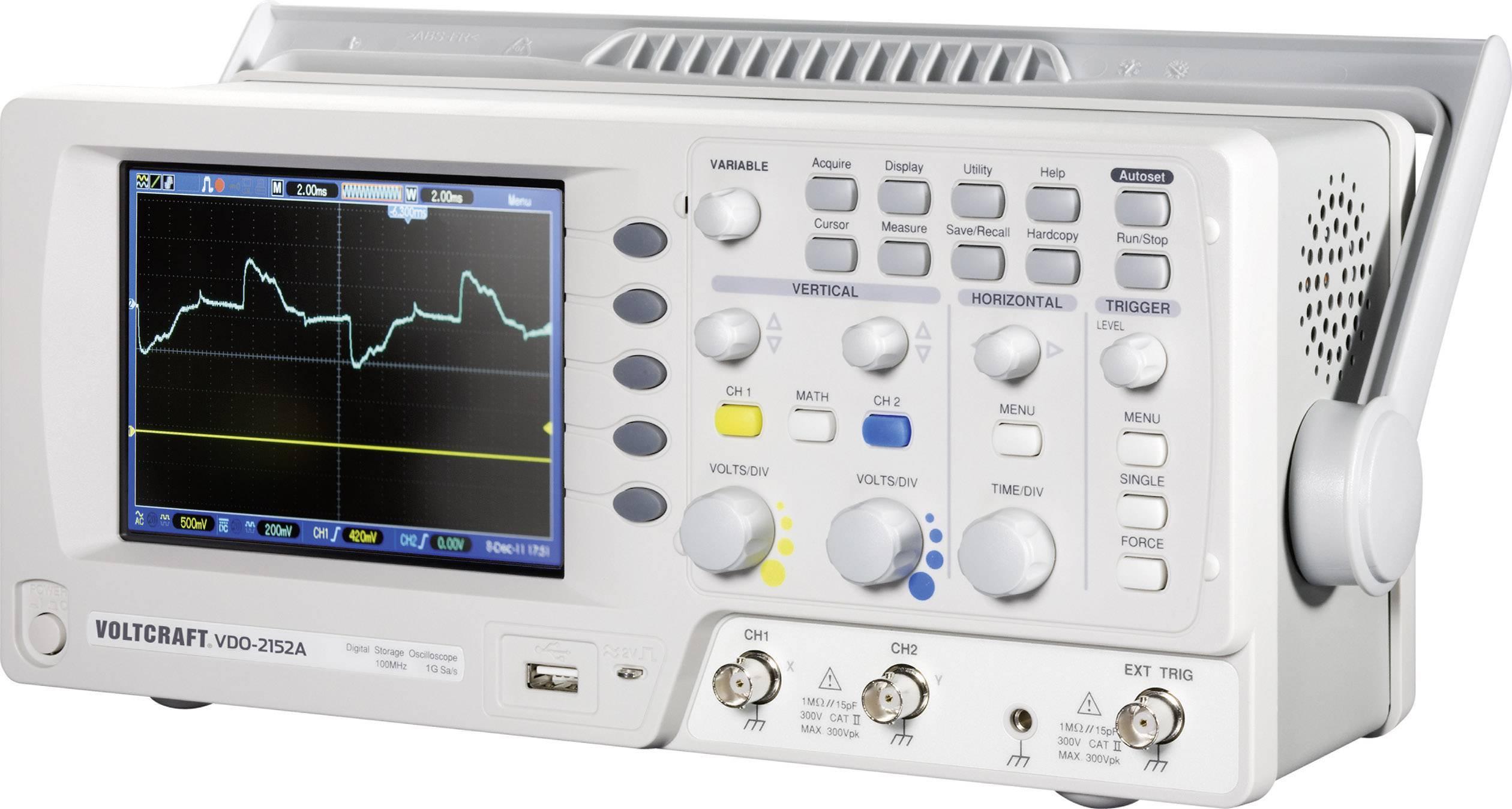 Digitálny osciloskop VOLTCRAFT VDO-2152A, 150 MHz, 2-kanálový