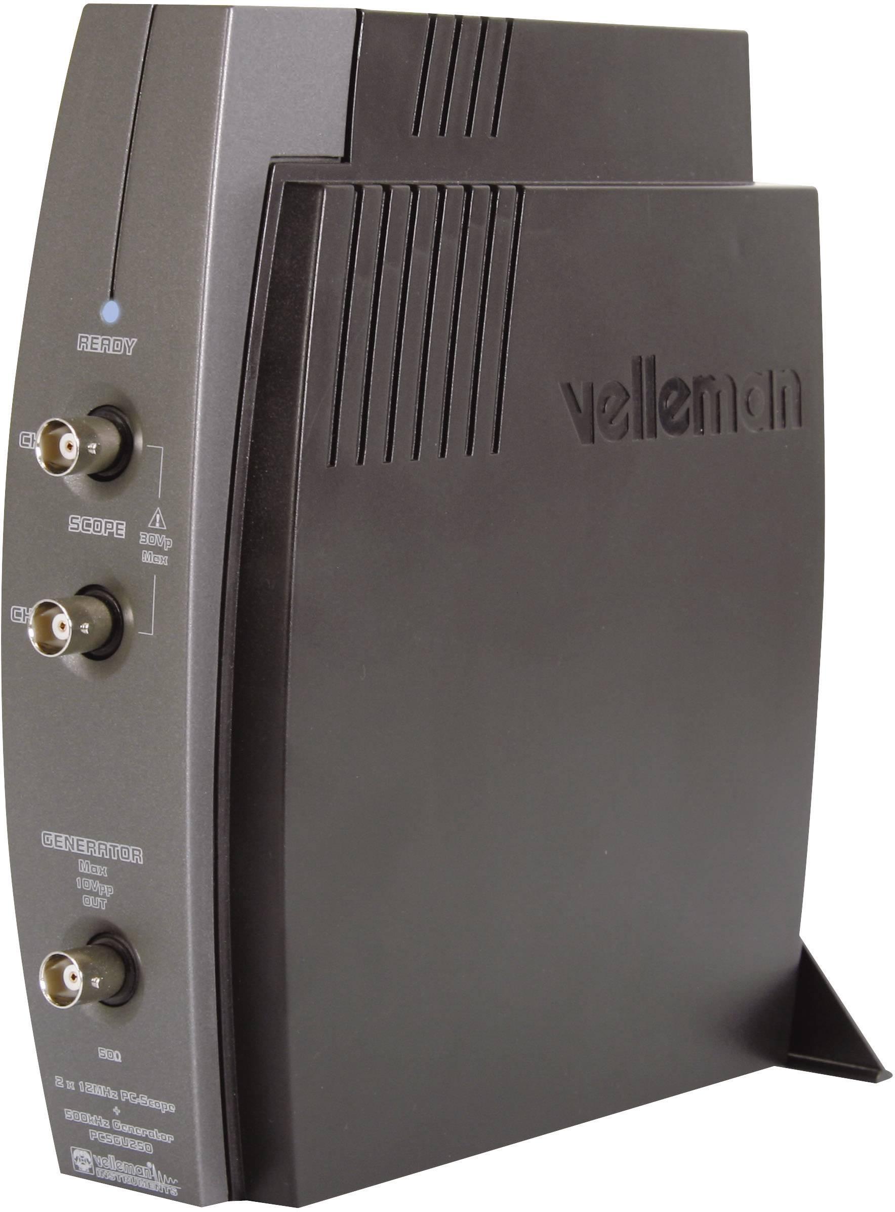 USB osciloskop Velleman PCSGU250, 12 MHz, 2kanálový