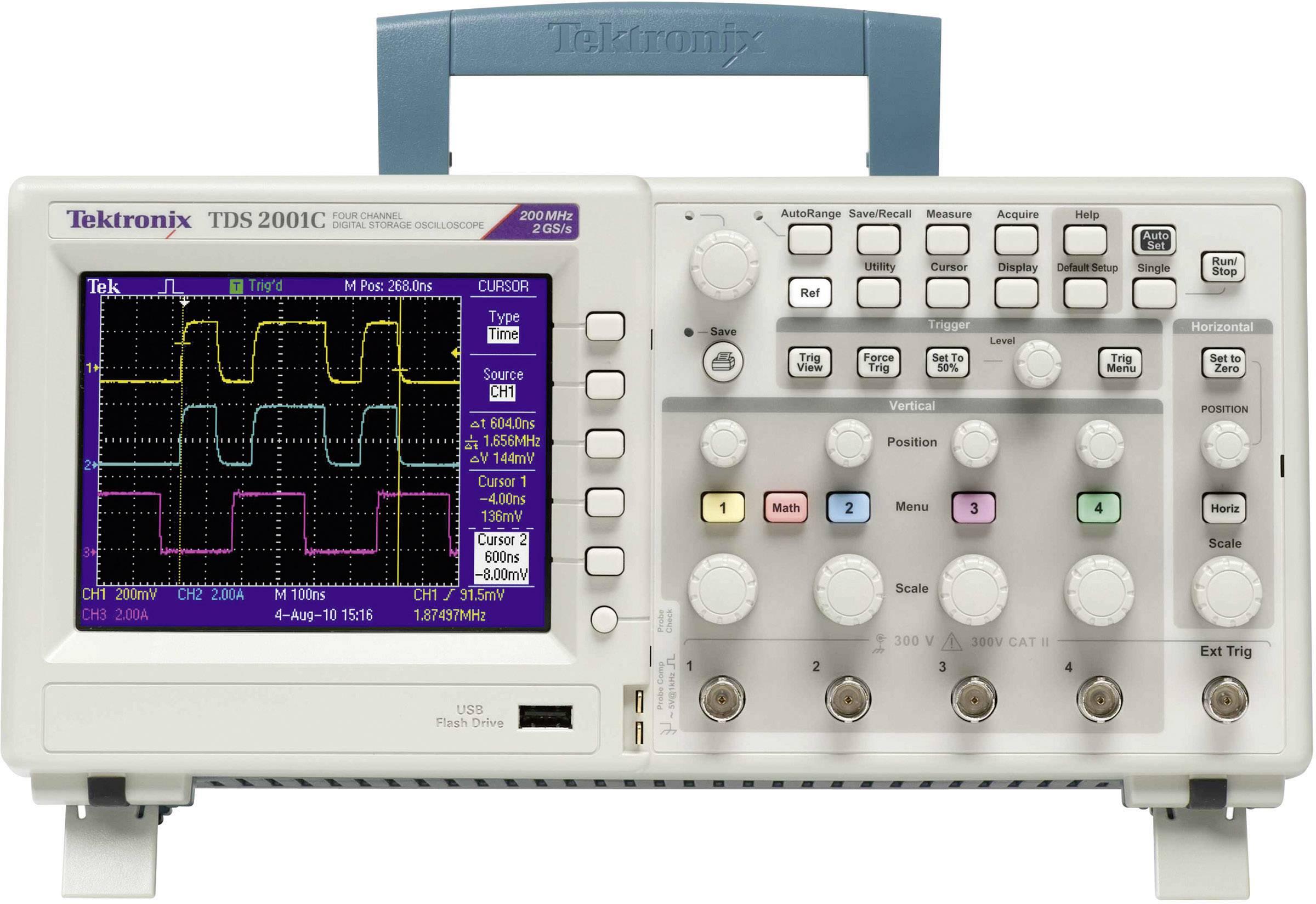 Digitální osciloskop Tektronix TDS2001C, 50 MHz, 2kanálová