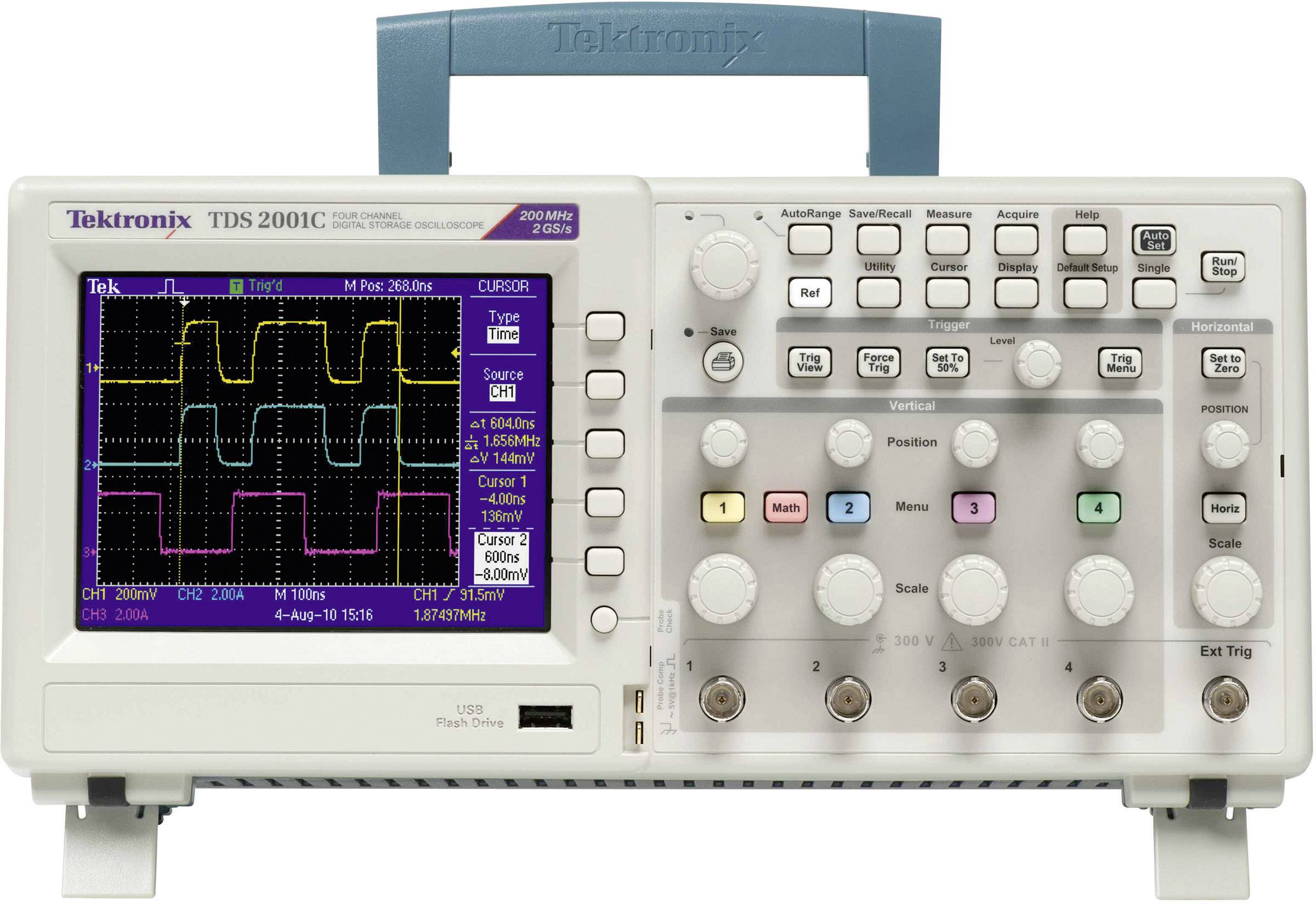 Digitálny osciloskop Tektronix TDS2002C, 70 MHz, 2-kanálový