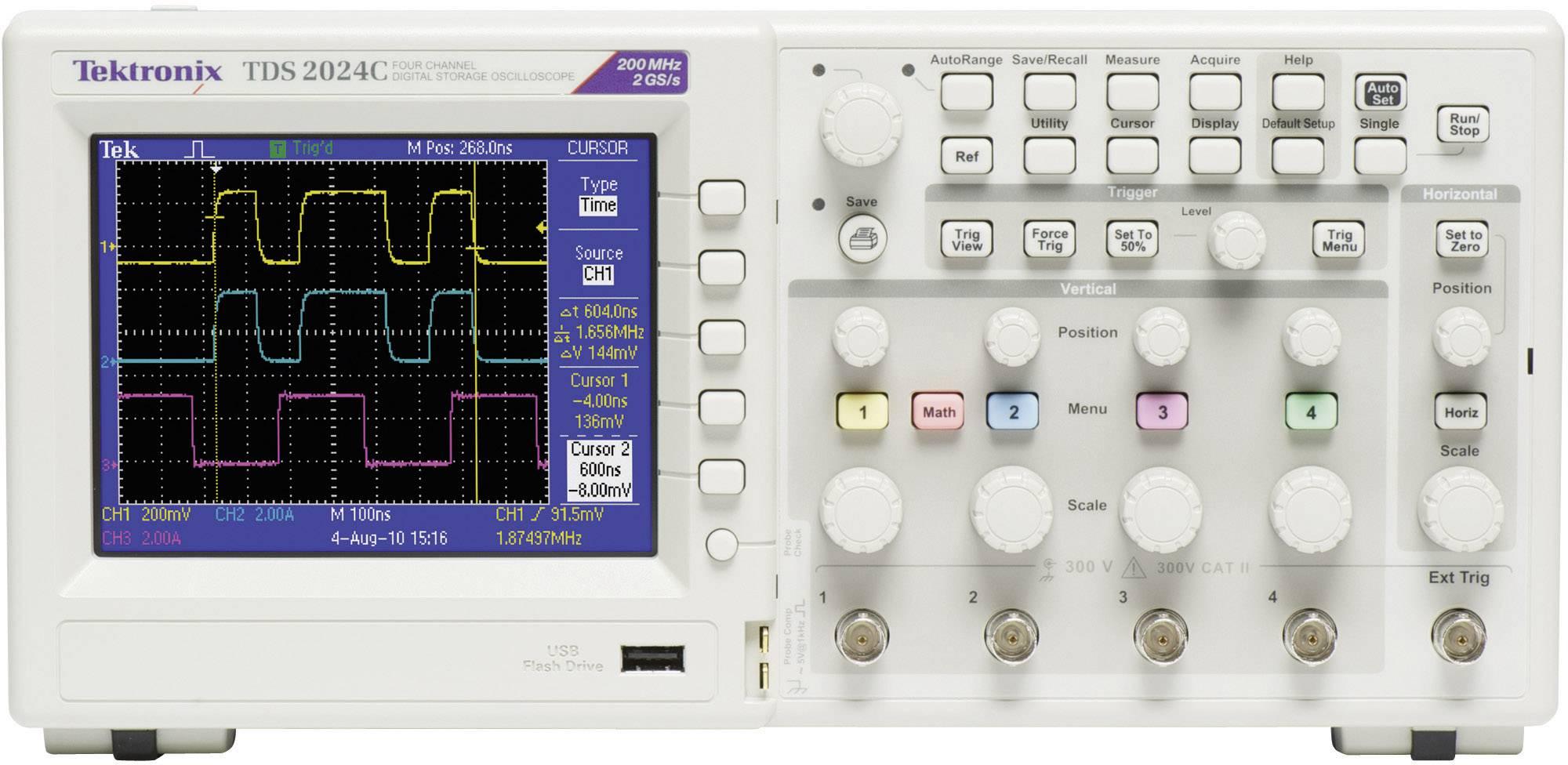 Digitální osciloskop Tektronix TDS2024C, 200 MHz, 4kanálová