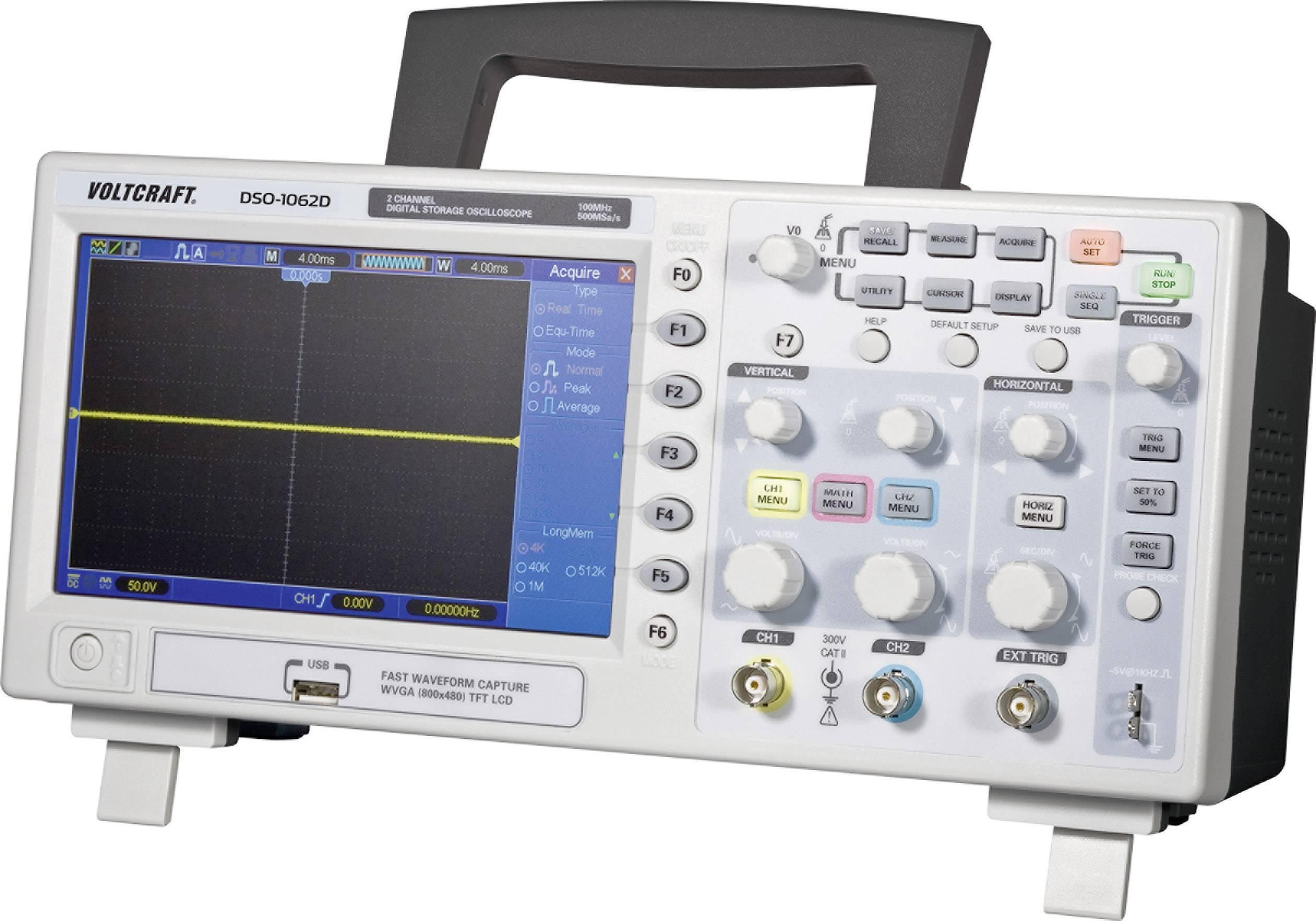 Digitálny osciloskop Voltcraft DSO-1062D, 2 kanály, 60 Mhz
