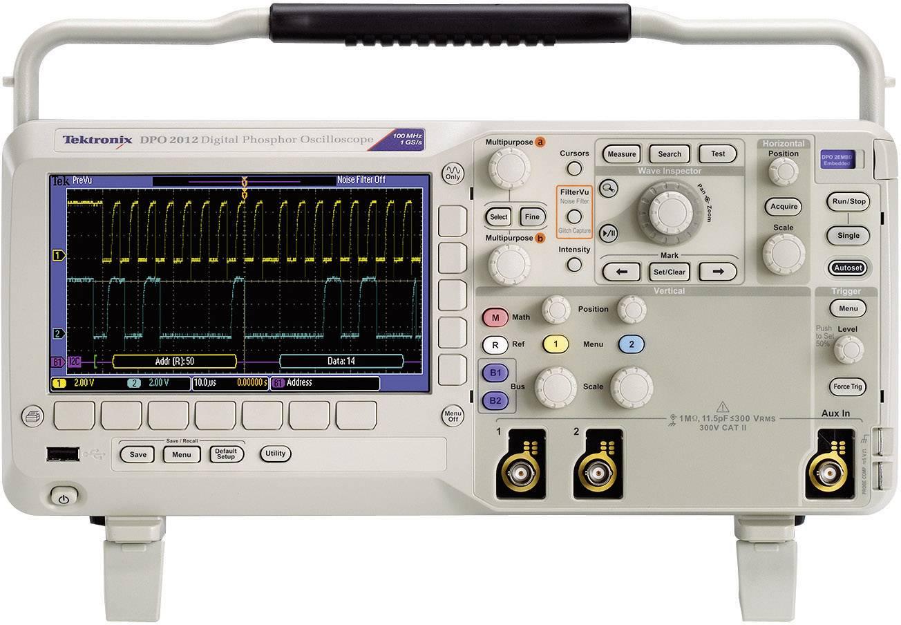 Digitálny osciloskop Tektronix DPO2022B, 200 MHz, 2-kanálový, kalibrácia podľa ISO