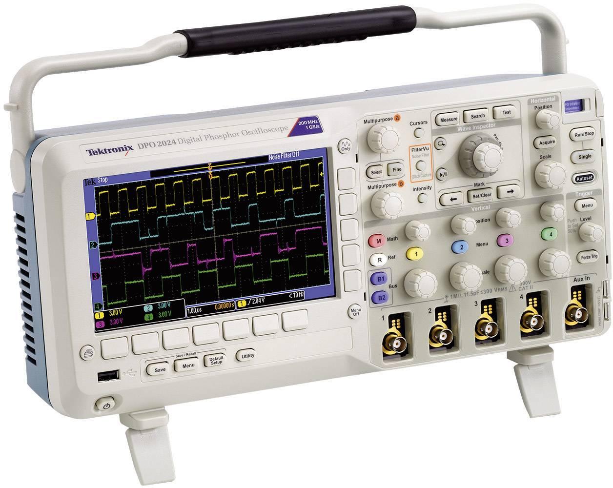 Digitálny osciloskop Tektronix DPO2024B, 200 MHz, 4-kanálový, kalibrácia podľa ISO