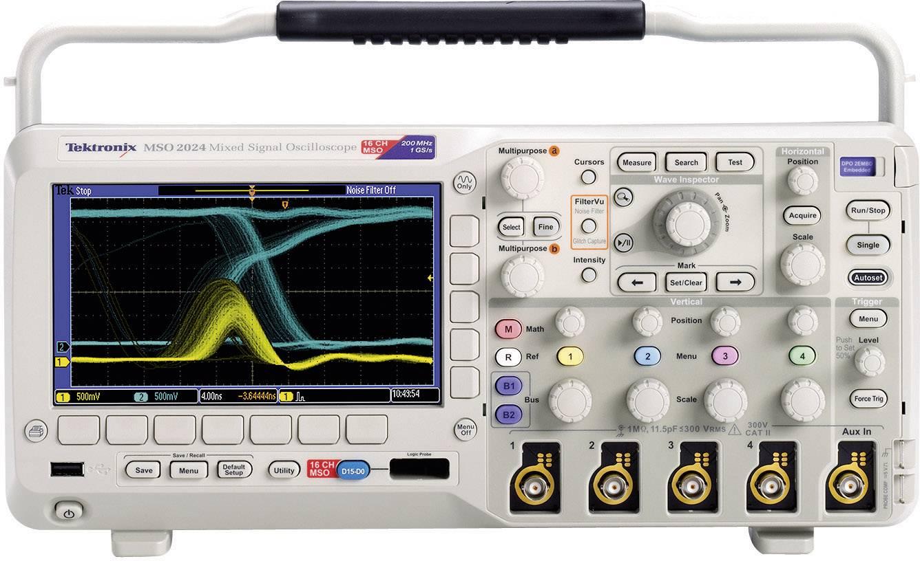 Digitálny osciloskop Tektronix MSO2024B, 200 MHz, 20-kanálový, kalibrácia podľa ISO