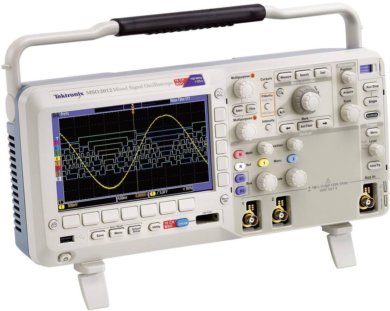 Digitálny osciloskop Tektronix MSO2014B, 100 MHz, 20-kanálový, kalibrácia podľa ISO