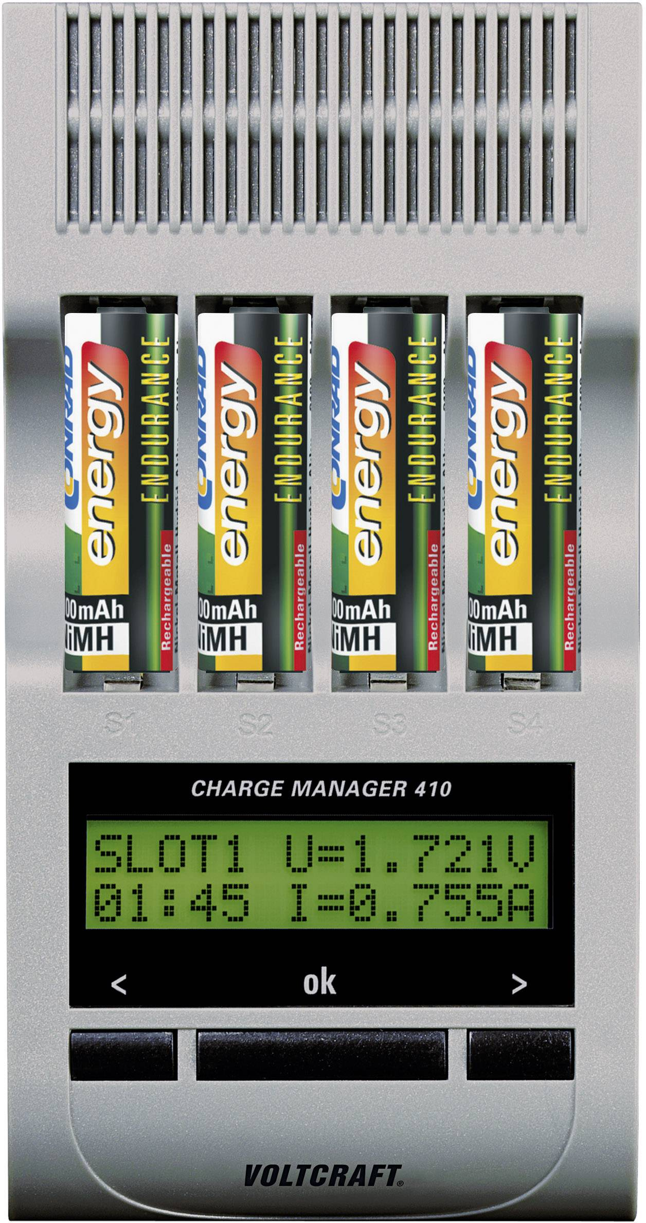 Nabíječka Voltcraft Charge Manager 410 + 4x AA Endurance 2300 mAh