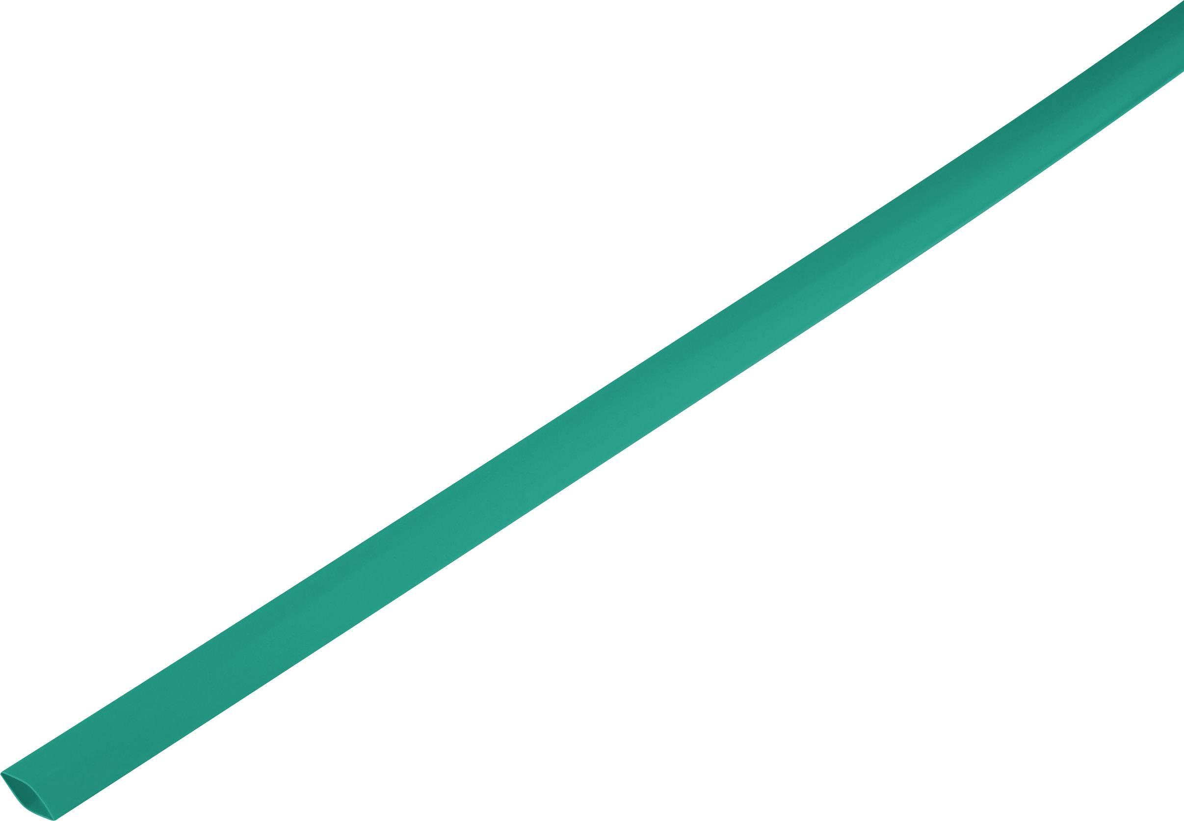 Zmršťovacia bužírka bez lepidla 1225416, 2:1, 6.50 mm, zelená, metrový tovar