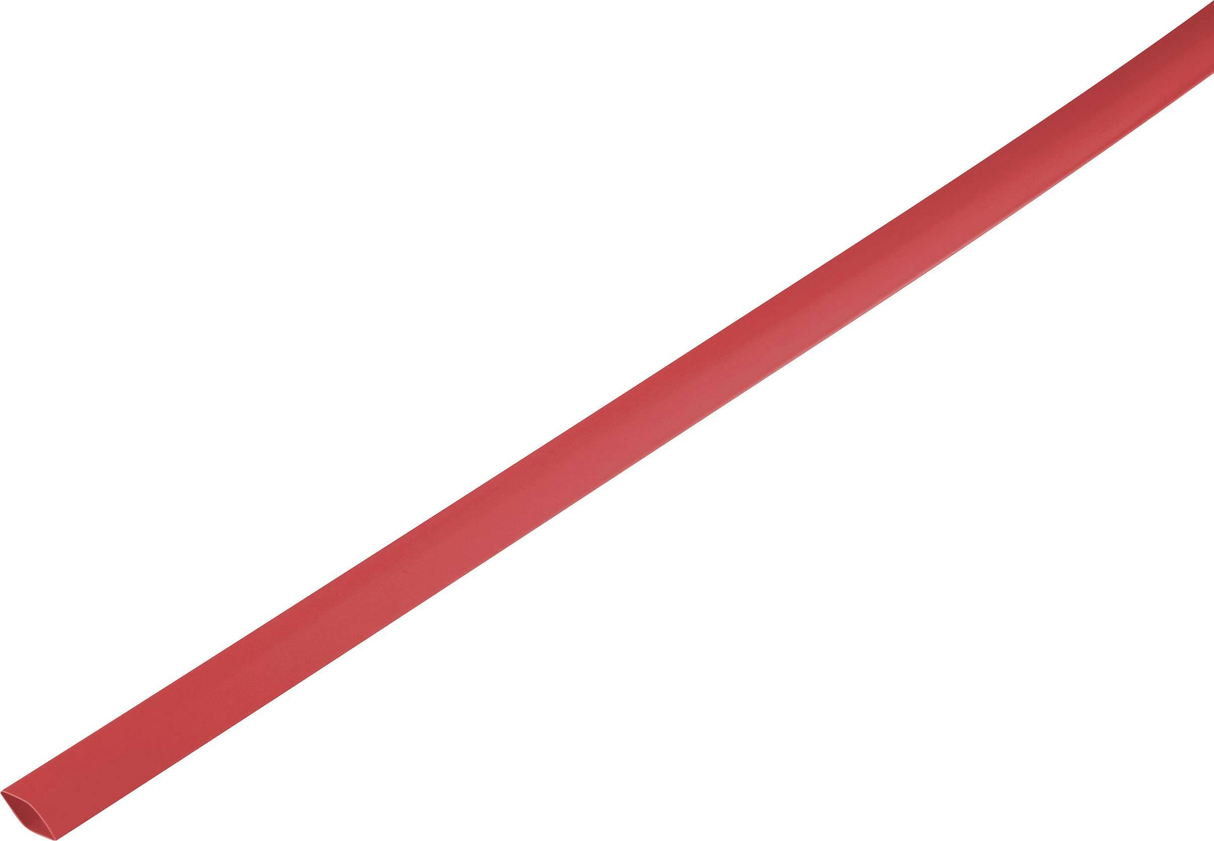 Zmršťovacia bužírka bez lepidla 1225445, 2:1, 2.50 mm, červená, metrový tovar