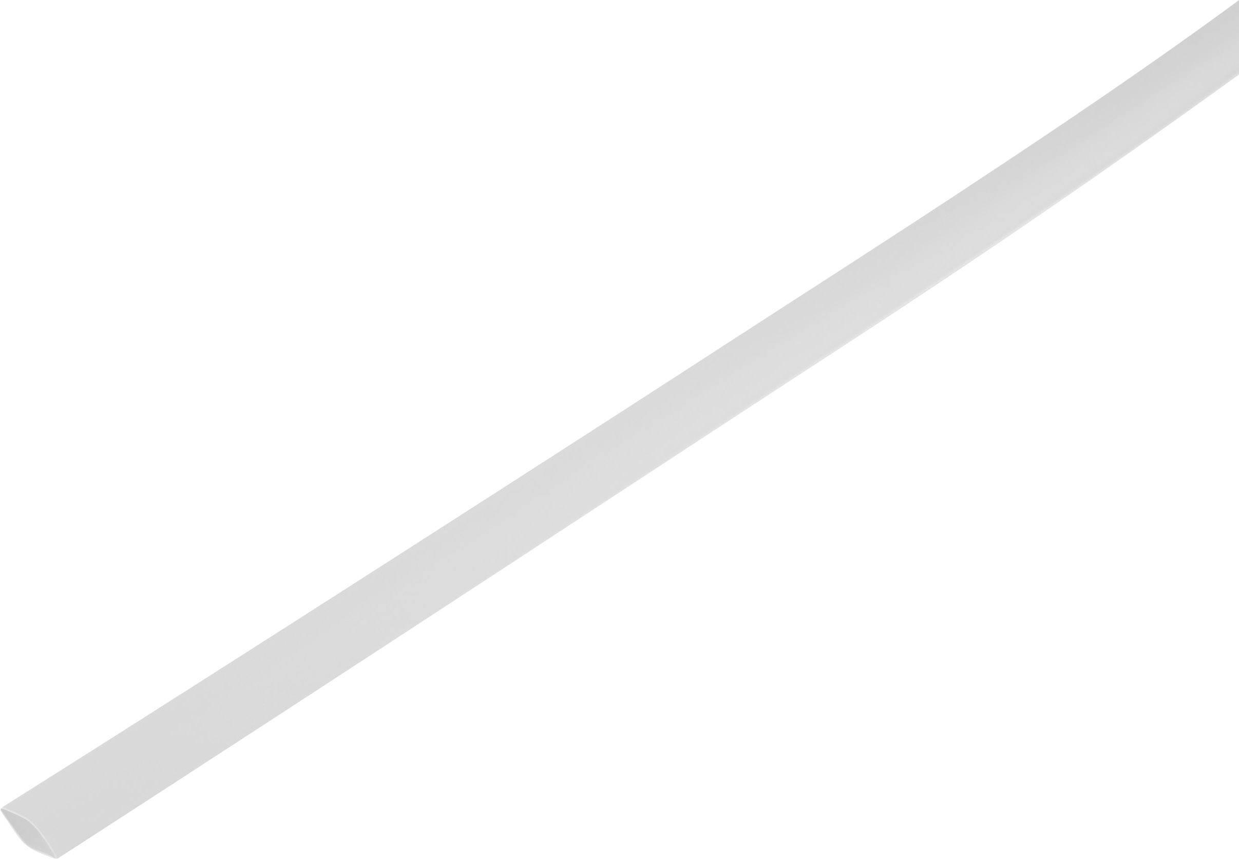 Zmršťovacia bužírka bez lepidla 1225492, 2:1, 8.60 mm, biela, metrový tovar