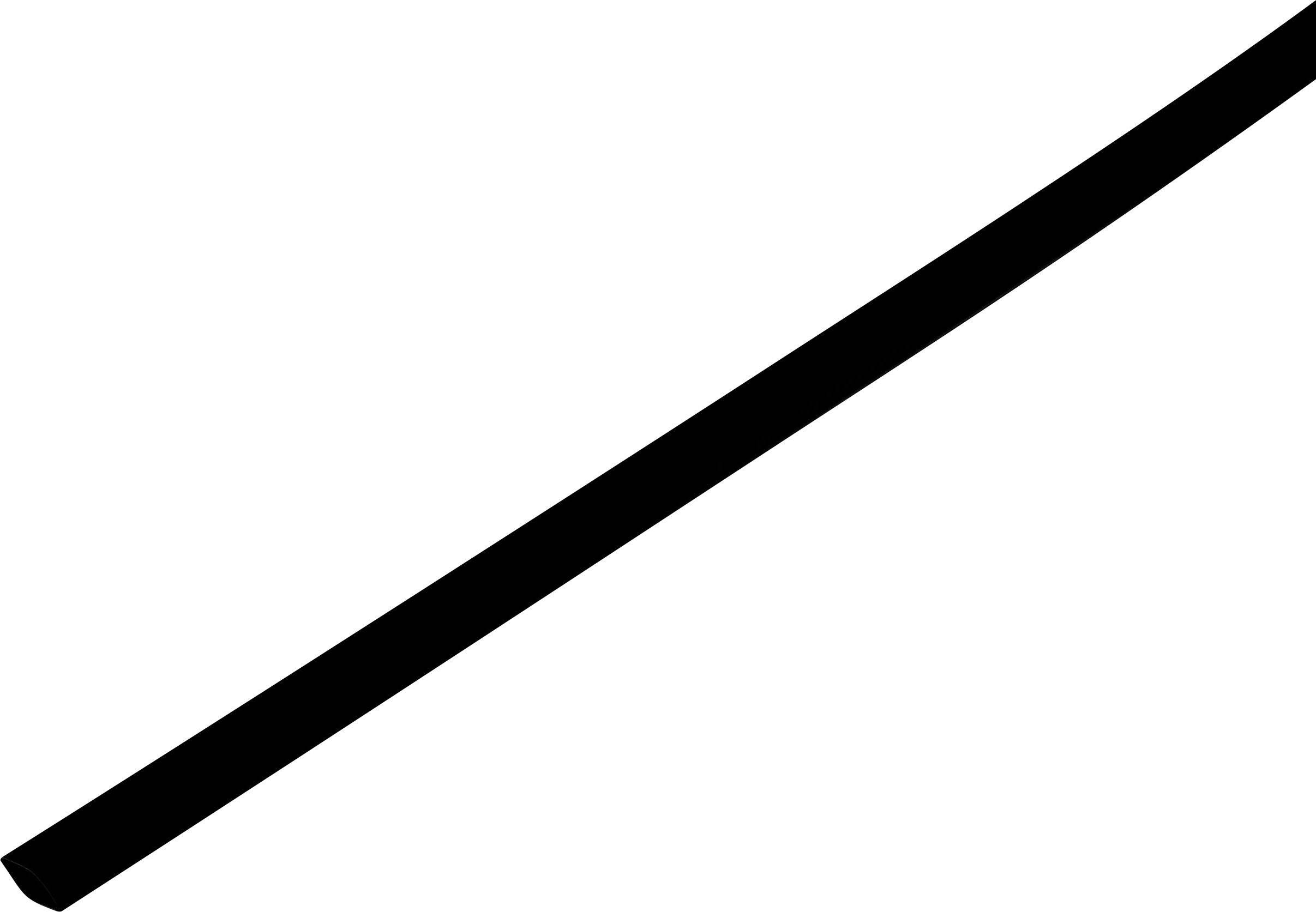 Smršťovací bužírka bez lepidla TRU COMPONENTS 1225410 2:1, -55 až +125 °C, 1 mm, černá, metrové zboží