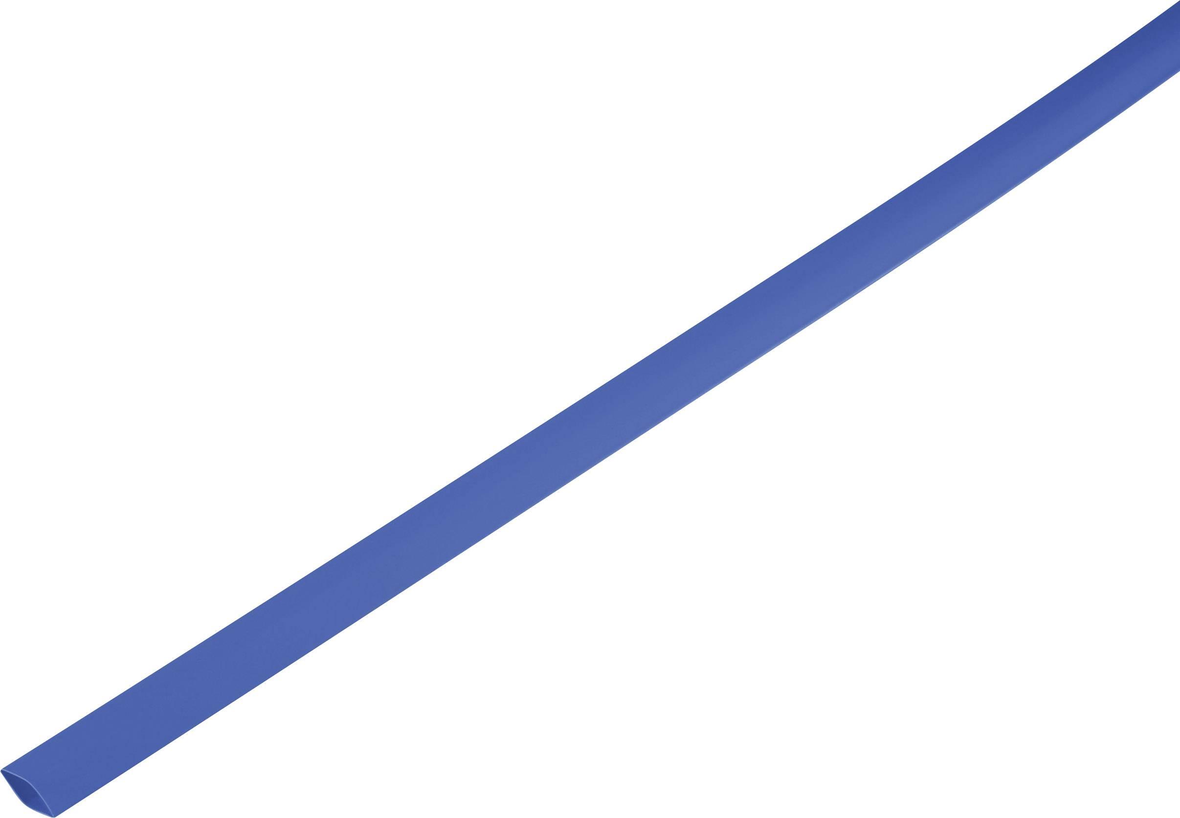 Smršťovací bužírka bez lepidla 1225514 2:1, -55 až +125 °C, 8.60 mm, modrá, metrové zboží