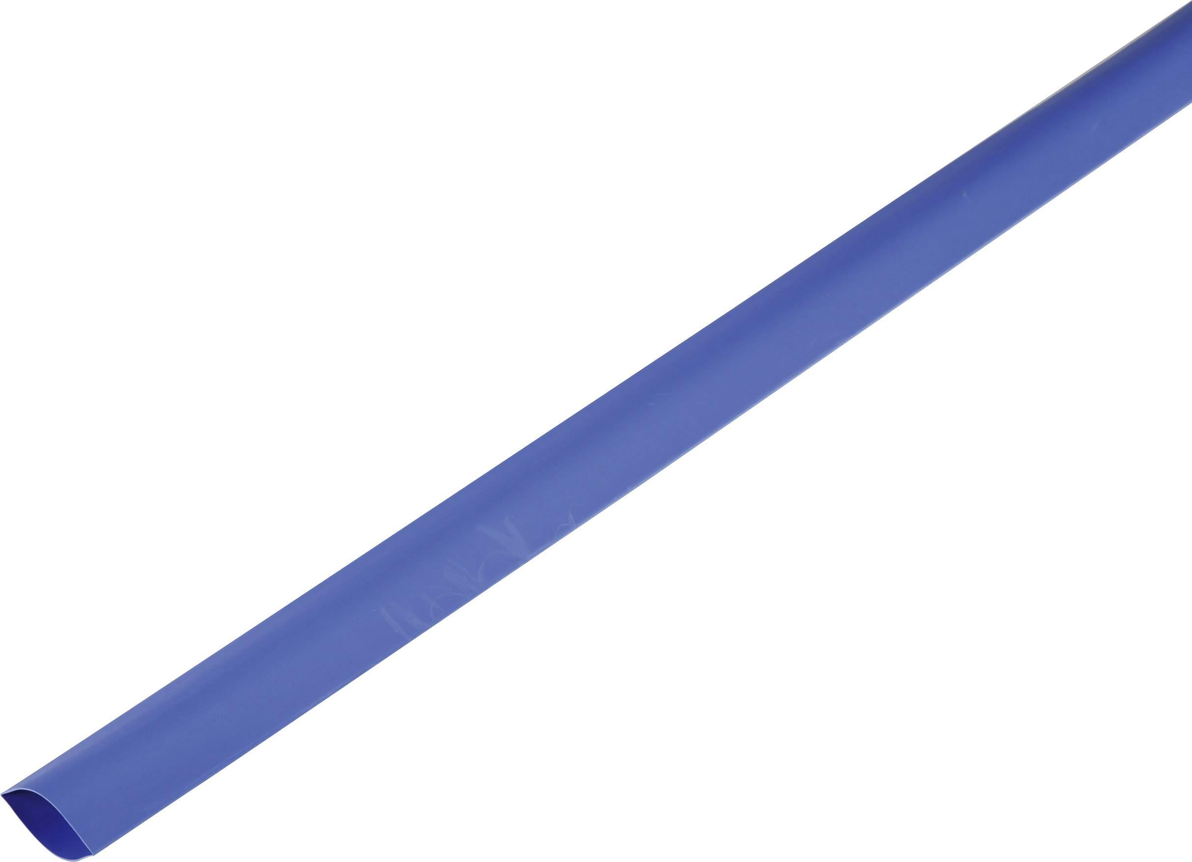 Smršťovací bužírka bez lepidla 1225528 2:1, -55 až +125 °C, 120 mm, modrá, metrové zboží