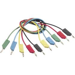 Měřicí kabel banánek 4 mm ⇔ banánek 4 mm SKS Hirschmann CO MLN 50/1, 0,5 m, červená