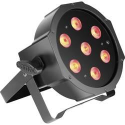 LED PAR svetlomet Cameo CLPFLAT1TRI3WIR, 7 x, čierna