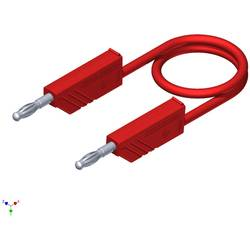 Měřicí silikonový kabel SKS Hirschmann, 1 mm², délka 0,25 m, červená