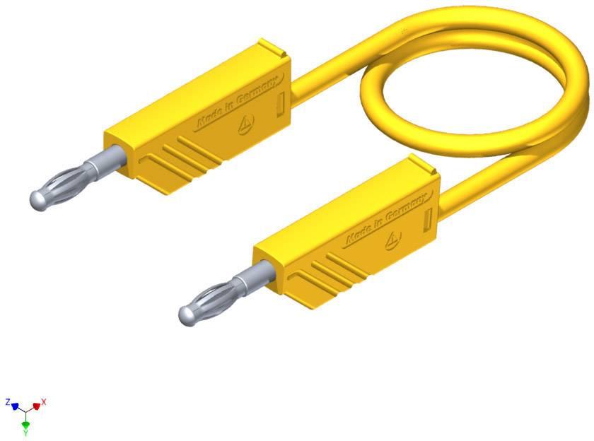 Merací silikónový kábel Hirschmann, 1 mm², dĺžka 1 m, žltý