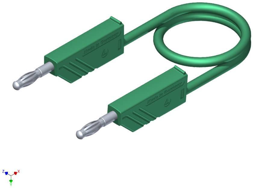 Měřicí silikonový kabel SKS Hirschmann, 1 mm², délka 1 m, zelená