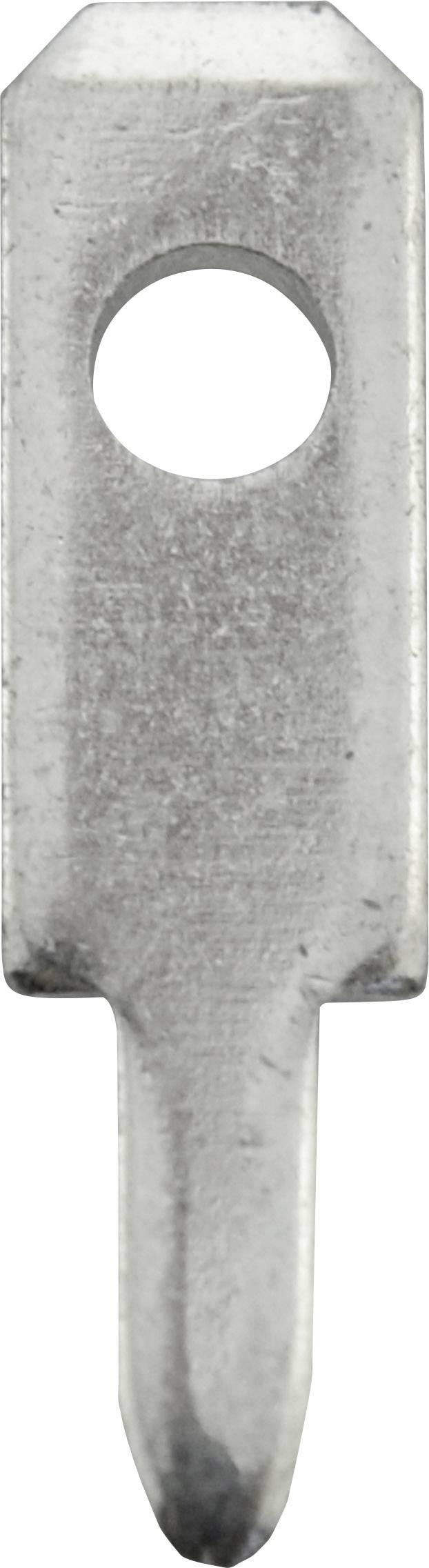 Faston zástrčka Vogt Verbindungstechnik 378008.61 2.8 mm x 0.8 mm, 180 °, bez izolace, kov, 100 ks