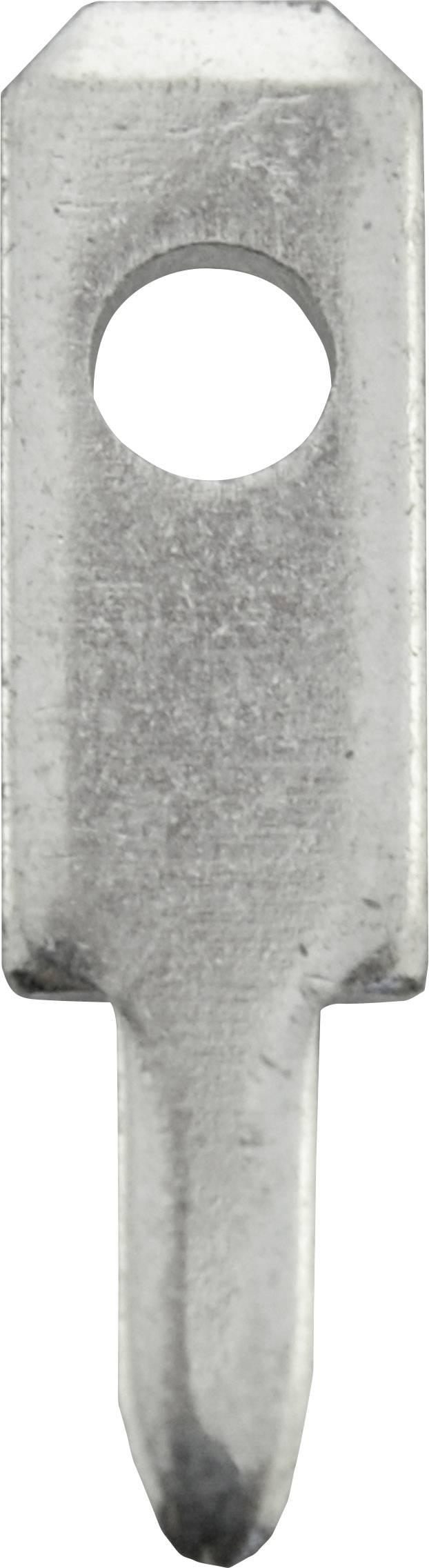 Faston zástrčka Vogt Verbindungstechnik 3779t.68 2.8 mm x 0.8 mm, 180 °, bez izolace, kov, 100 ks