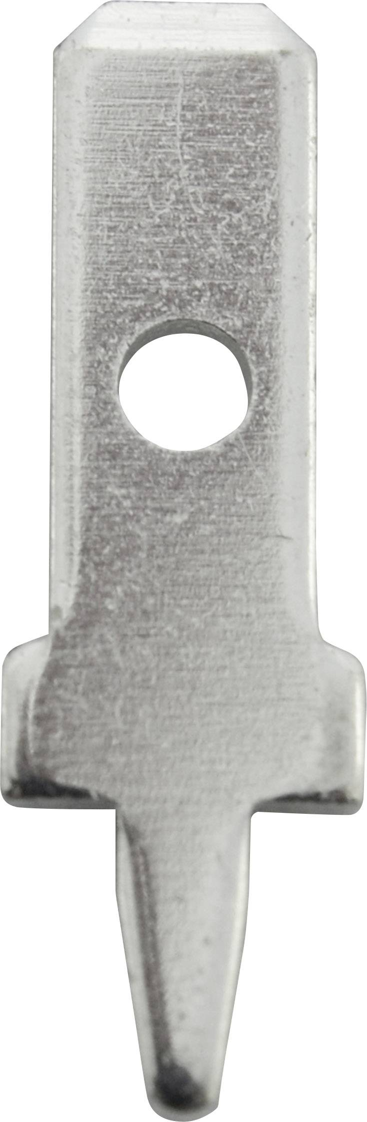 Faston zástrčka Vogt Verbindungstechnik 3775a05.68 2.8 mm x 0.5 mm, 180 °, bez izolace, kov, 100 ks