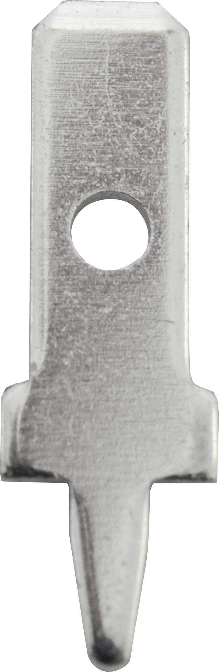 Faston zástrčka Vogt Verbindungstechnik 3775l08.28 2.8 mm x 0.8 mm, 180 °, bez izolace, kov, 100 ks