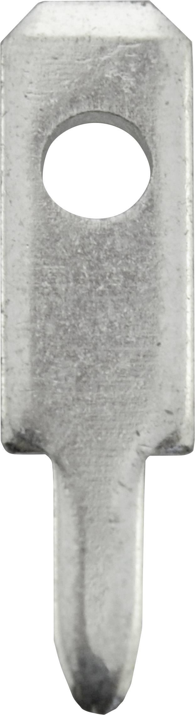 Faston zástrčka Vogt Verbindungstechnik 3780a05.68 2.8 mm x 0.5 mm, 180 °, bez izolace, kov, 100 ks