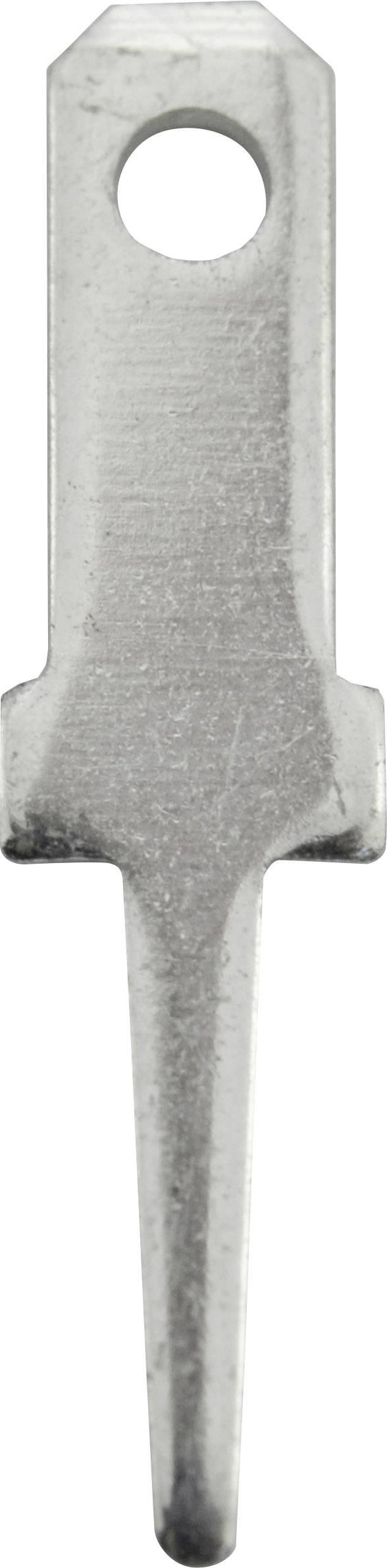 Faston zástrčka Vogt Verbindungstechnik 3775b08.68 2.8 mm x 0.8 mm, 180 °, bez izolace, kov, 100 ks